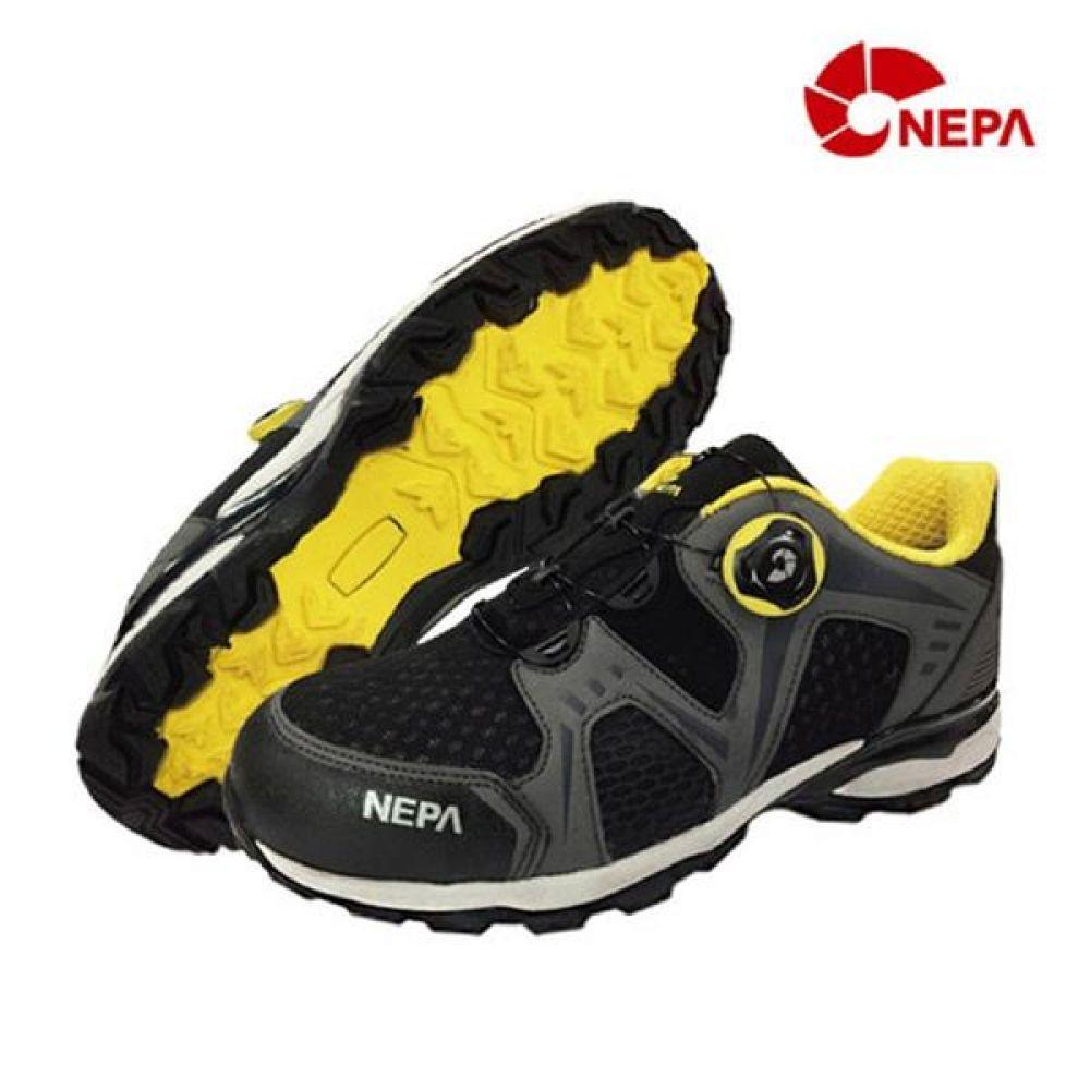 네파 GT-43 다이얼 4in 보통작업용 단화 안전화 안전화 NEPA 네파 단화 에어메쉬 보아시스템 작업화 현장화