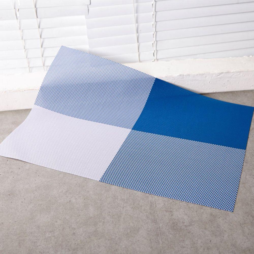 고방 체크 식탁매트 블루 테이블매트 주방용품식탁 테이블웨어 테이블매트 식탁매트 주방용품식탁