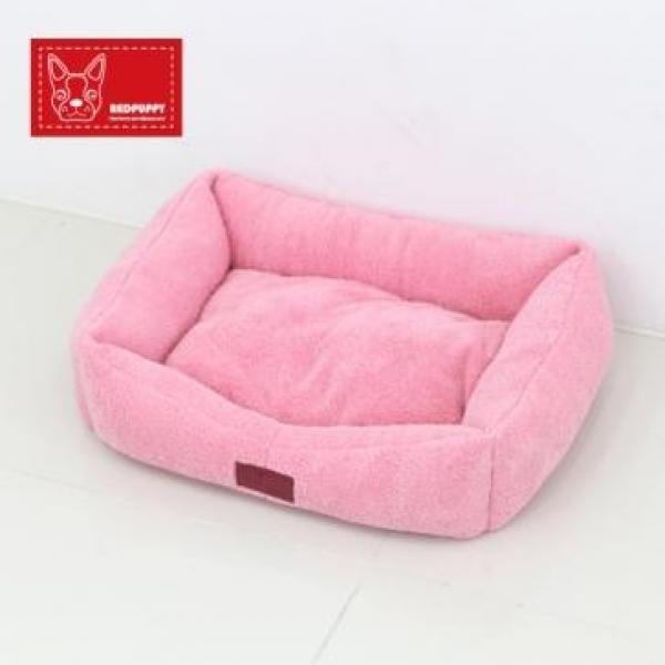 브랜드 사각 방석 (핑크)