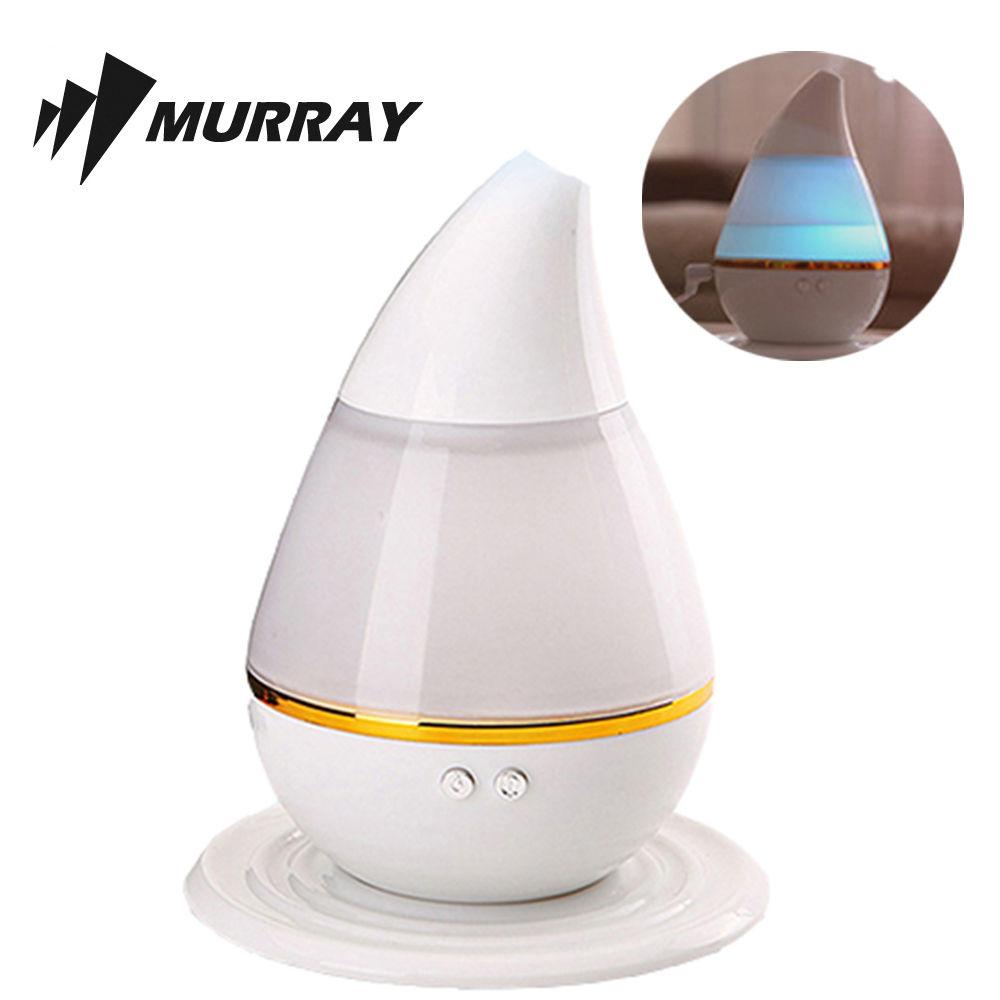 레인보우 LED 무드등 물방울 가습기 사무용 미니 가습 사무용 탁상용 미니 가습기