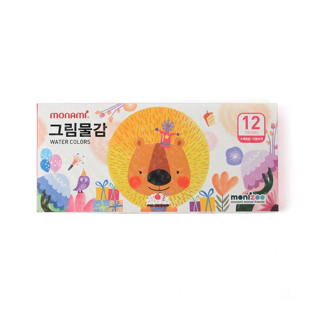 수채화물감 핑크 미술준비물 12색 그림물감 미술용품 수채물감세트 미술준비물 미술용품 신학기용품 그림물감세트