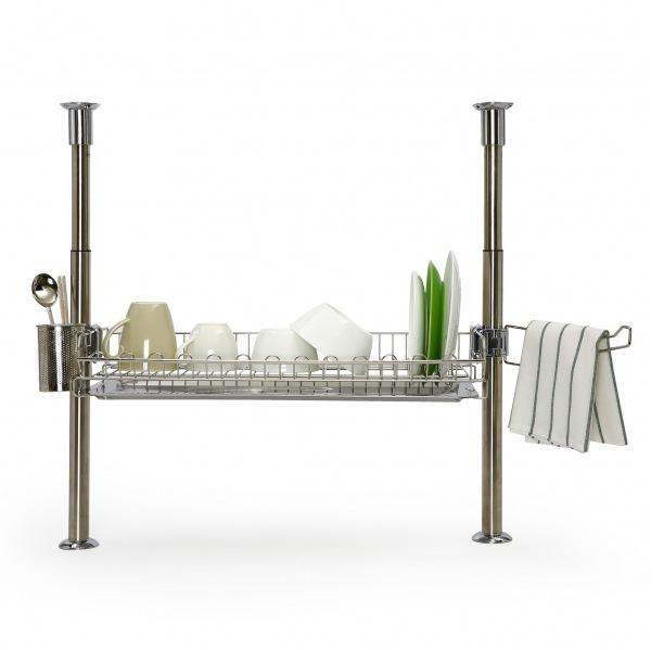 몽동닷컴 원터치 기둥식 씽크선반 600U 주방선반 식기선반 식기건조대 씽크대선반 식기건조