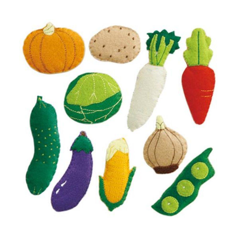 융판 탈부착용 야채 토독 8종세트 완구 문구 장난감 어린이 캐릭터 학습 교구 교보재 인형 선물