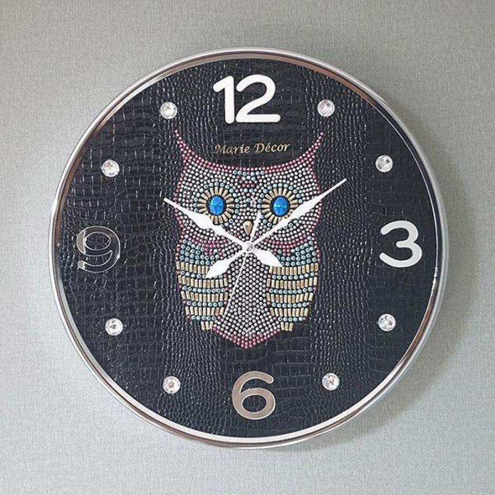 스위트부엉이 무소음 벽시계(대) 블랙 벽시계 벽걸이시계 인테리어벽시계 예쁜벽시계 인테리어소품