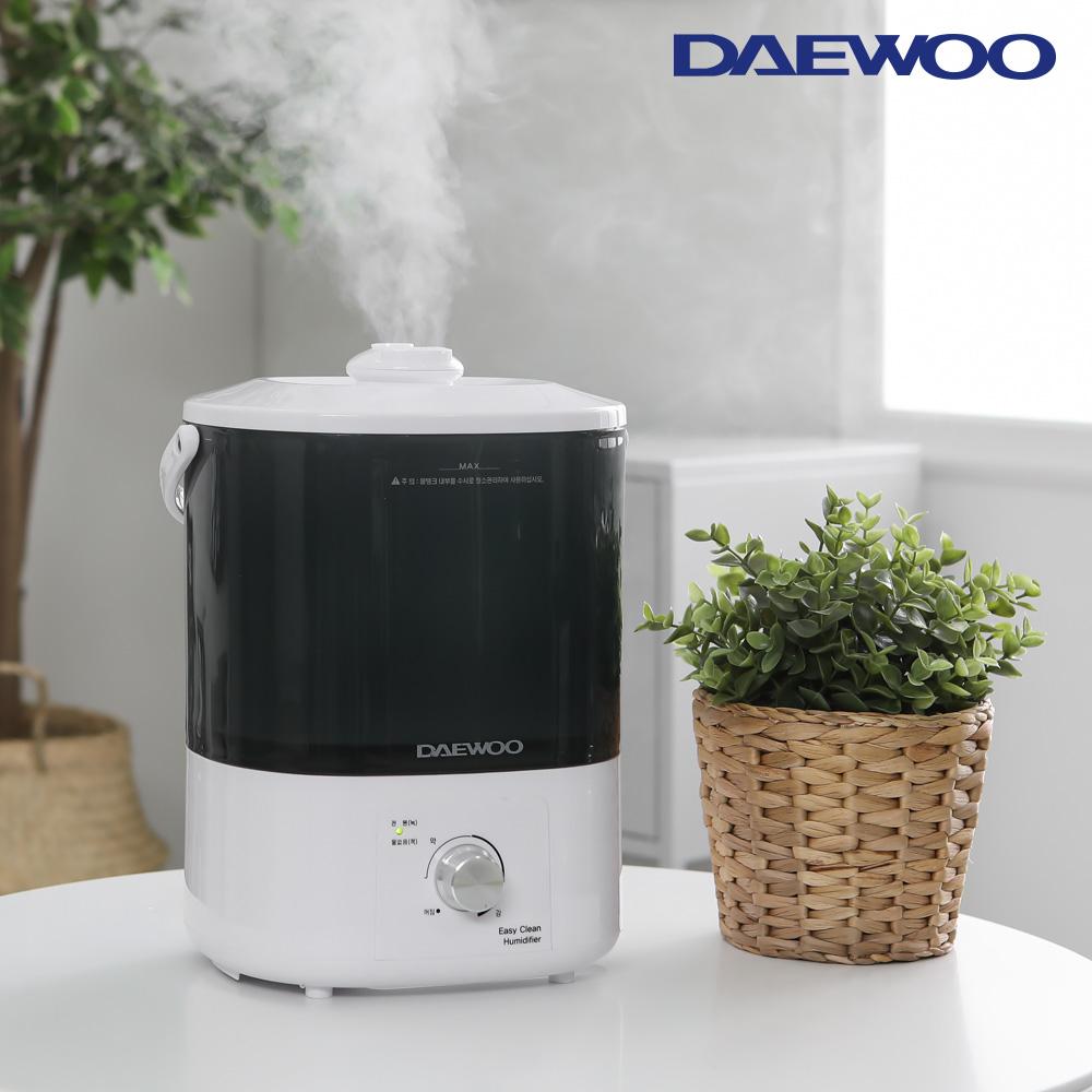 신형 4리터 간편세척 가습기 화이트 DEH-X1000 제습기 휴대용 세탁기 온풍기 전열기
