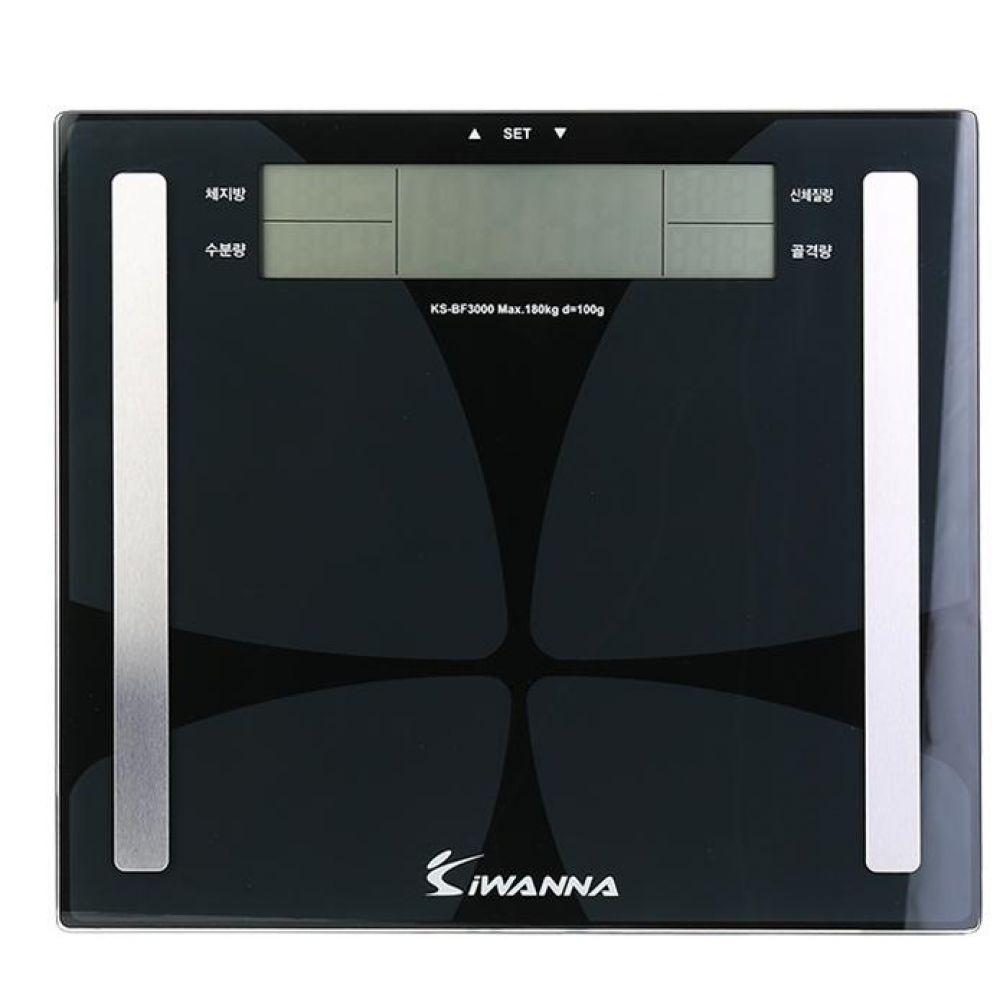 아이워너 체지방 체중계 블랙180kg 측정 헬스용품 트레이닝용품 홈트레이닝용품 체력단련용품 스포츠측정용품 체중계 기계식체중계
