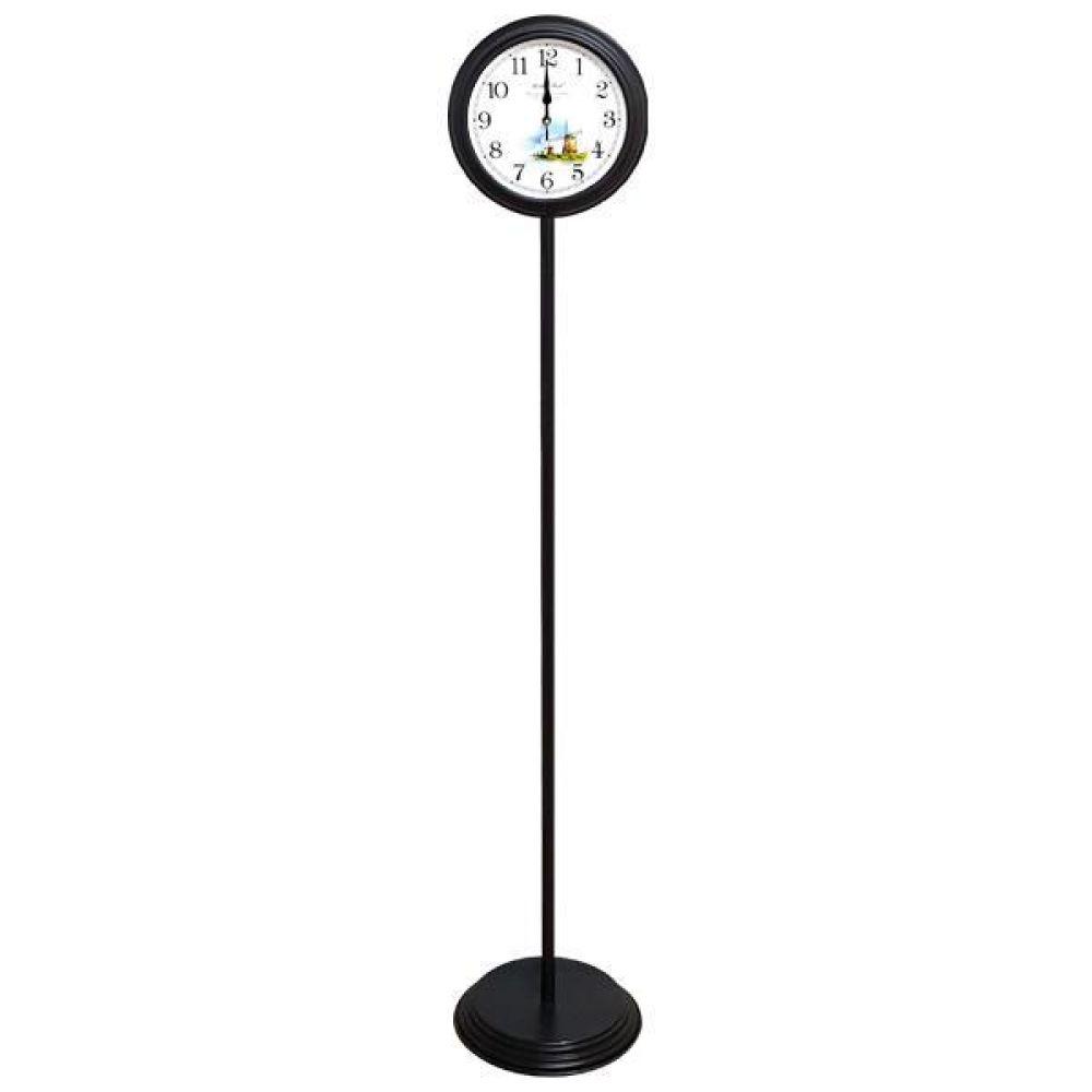 GB6156 무소음 메탈 스탠드시계 진밤색 풍차 제조한국 스탠드시계 인테리어시계 무소음시계 플로어시계 거실시계 장식시계 메탈시계 스틸시계 디자인시계 홈데코시계 집들이선물 오피스시계 인테리어소품