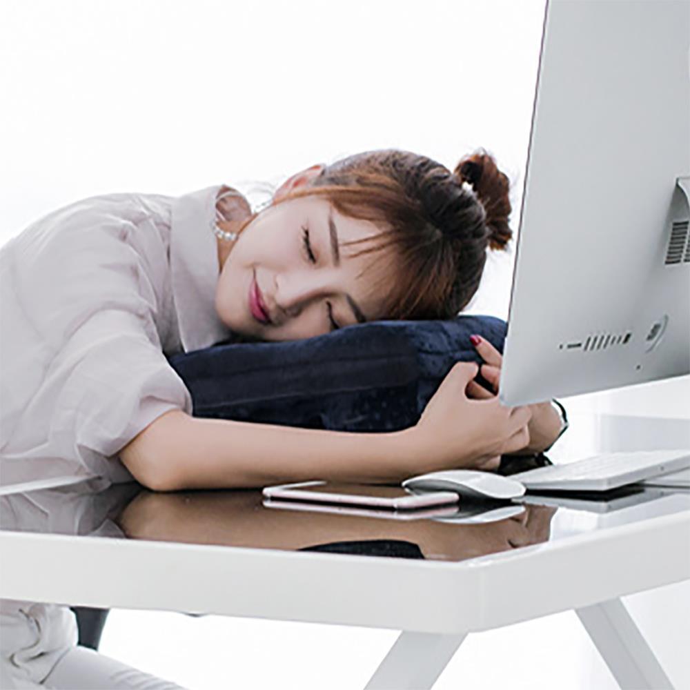 대나무숯 메모리폼 블루 낮잠베개 사무실베개 등받이베개 수면베개 사무실베개 책상베개 메모리폼베개