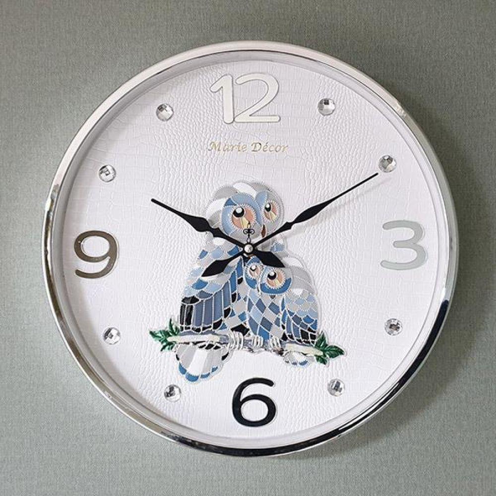 컬러블록 부엉이 심플벽시계 (실버) 벽시계 벽걸이시계 인테리어벽시계 예쁜벽시계 인테리어소품