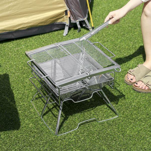 스테인리스 고급 바베큐 그릴(36 34cm) 캠핑용품 그릴 바베큐그릴 스테인리스그릴 바베큐용품