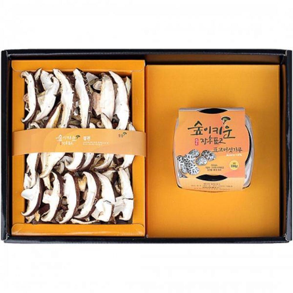 표고분말혼합1호 (절편150g 표고버섯가루100g) 쇼핑백포장 식품 농산물 채소 표고버섯 선물세트