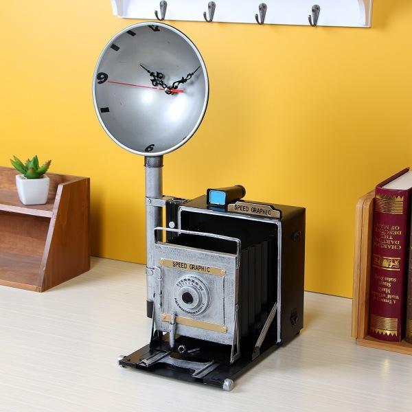 JHC컴퍼니 올드타임 엔틱 탁상시계(사진기) 벽시계 탁상시계 시계 클래식시계 엔틱벽시계