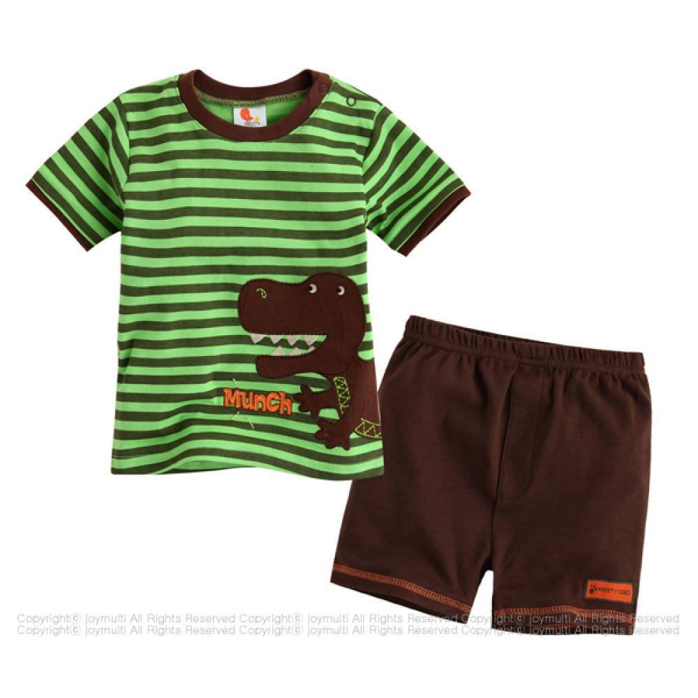 공룡줄무늬 상하세트(9-24개월) 202044 아기옷 유아옷 실내복 상하복 엠케이 조이멀티