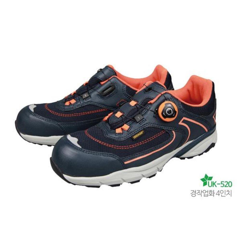 유니칸 UK-520 다이얼 (4in) 경작업용 신발 작업화 안전화 UNIKHAN 유니칸 단화 가죽안전화 메쉬 보아시스템 작업화 현장화