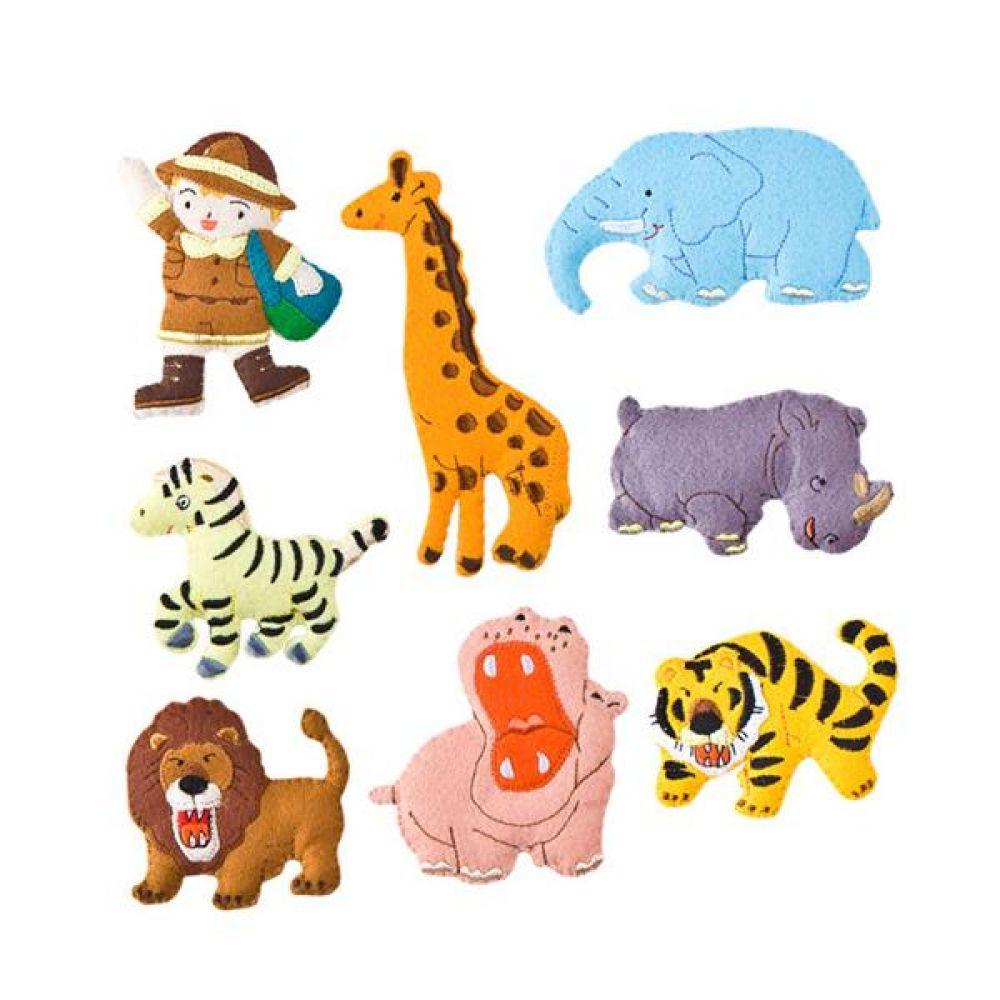 융판 탈부착 정글동물 토독 완구 문구 장난감 어린이 캐릭터 학습 교구 교보재 인형 선물