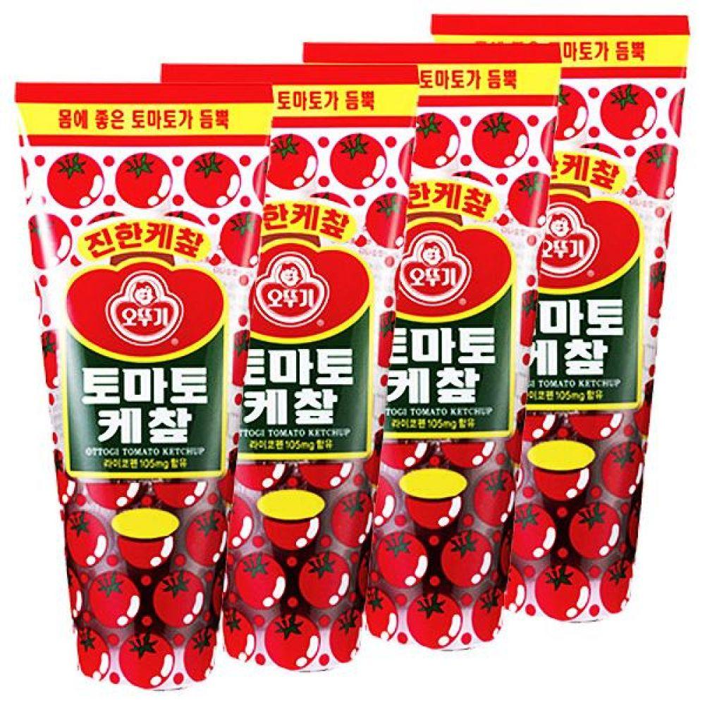 오뚜기)토마토 케찹 500G x 10개 케첩 달콤 새콤 입맛을 살려줌 케첩 핫도그 프렌치프라이 감자 소스