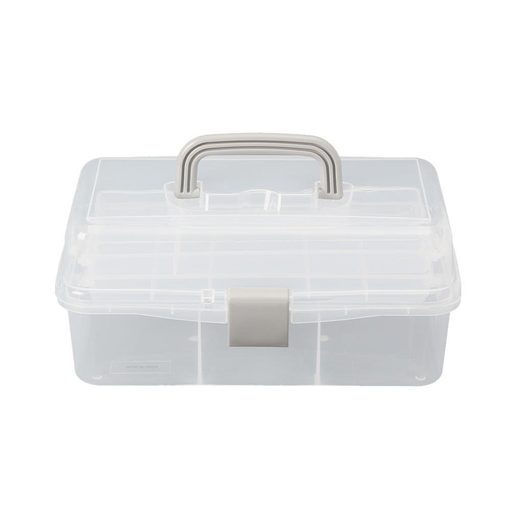 3단 33x20cm 콤비박스 투명 약상자 구급약통 공구통 공구상자 약상자 구급함 콤비박스 공구통