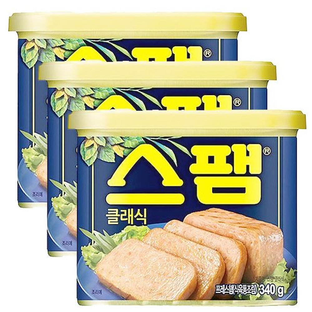 CJ)스팸 클래식 340g x 5개 간식 군것질 씨제이 스팸 햄