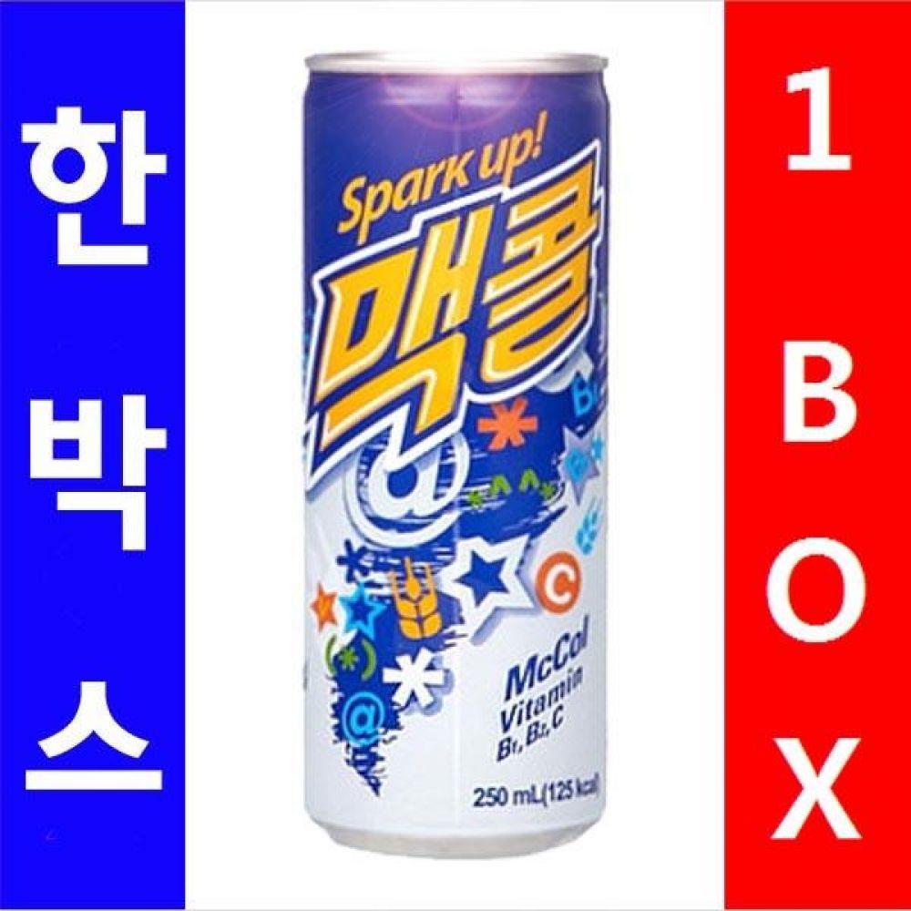 일화)맥콜 250ml 1박스(30캔) 음료 여름 탄산 보리 대량 도매 대량판매 세일 판매
