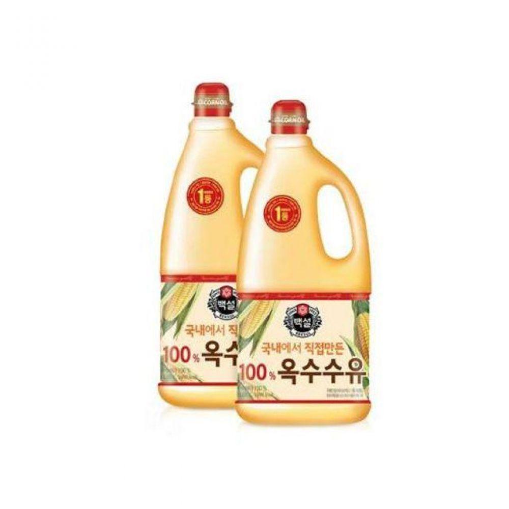 옥수수유 1.8리터 옥수수 100 2개 대용량 식용유 오일 식용유 튀김기름 꽃소금 콩식용유 오뚜기식용유 카놀라유 참기름 식용유18l 들기름 옥수수유