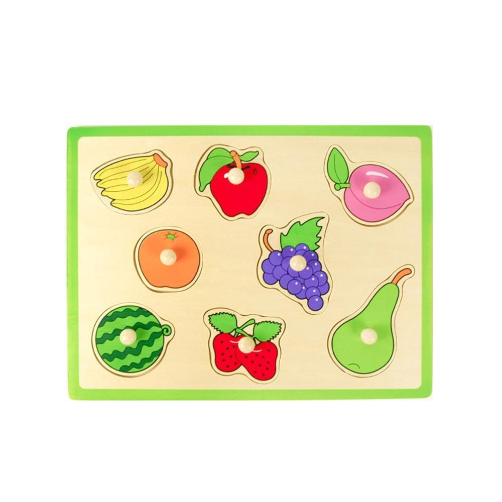 선물 유아 어린이 놀이 꼭지 퍼즐 과일 아이 장난감 퍼즐 블록 블럭 장난감 유아블럭