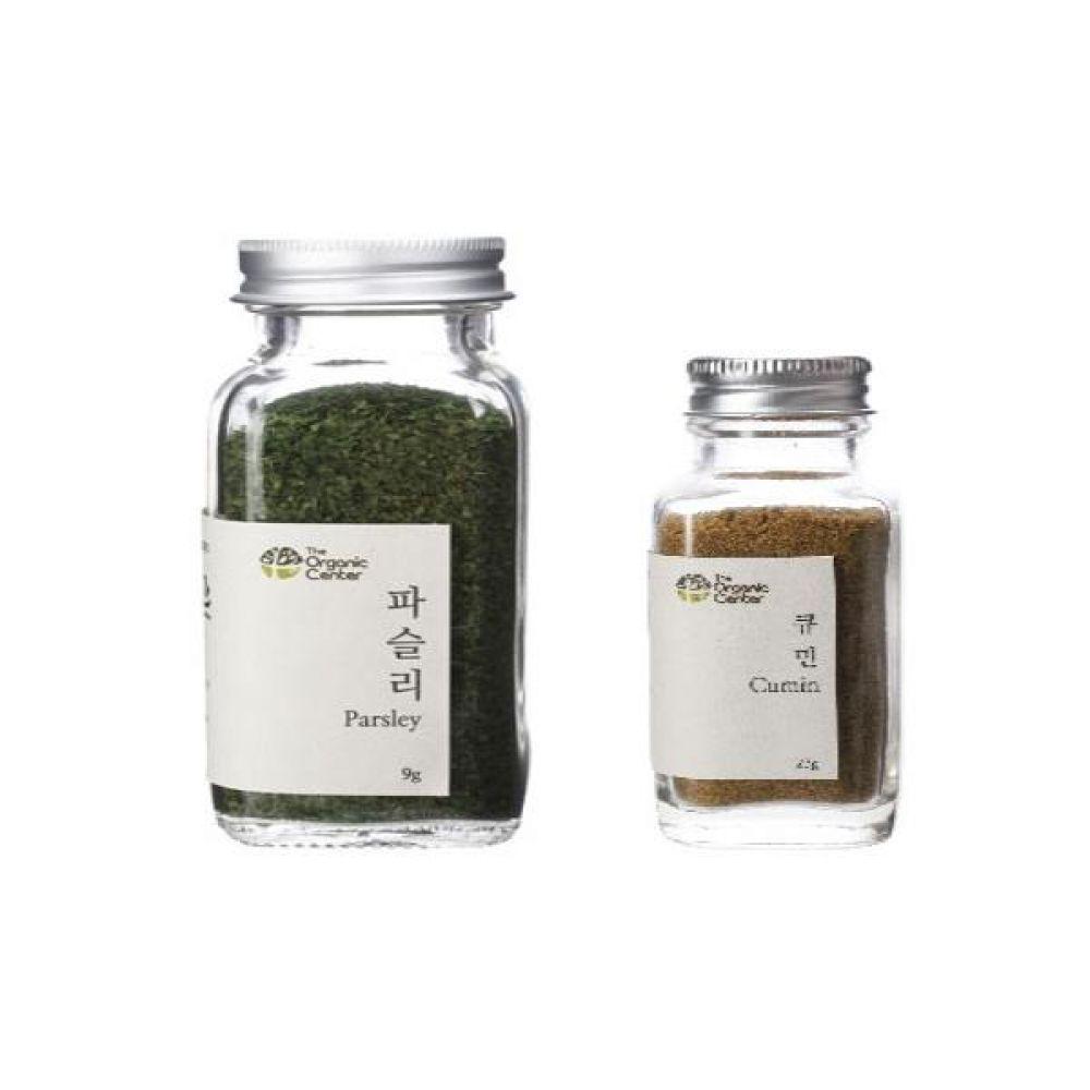 (오가닉 향신료 모음)건파슬리 30g과 큐민 파우더 23g 건강 견과 조미료 냄새 야채