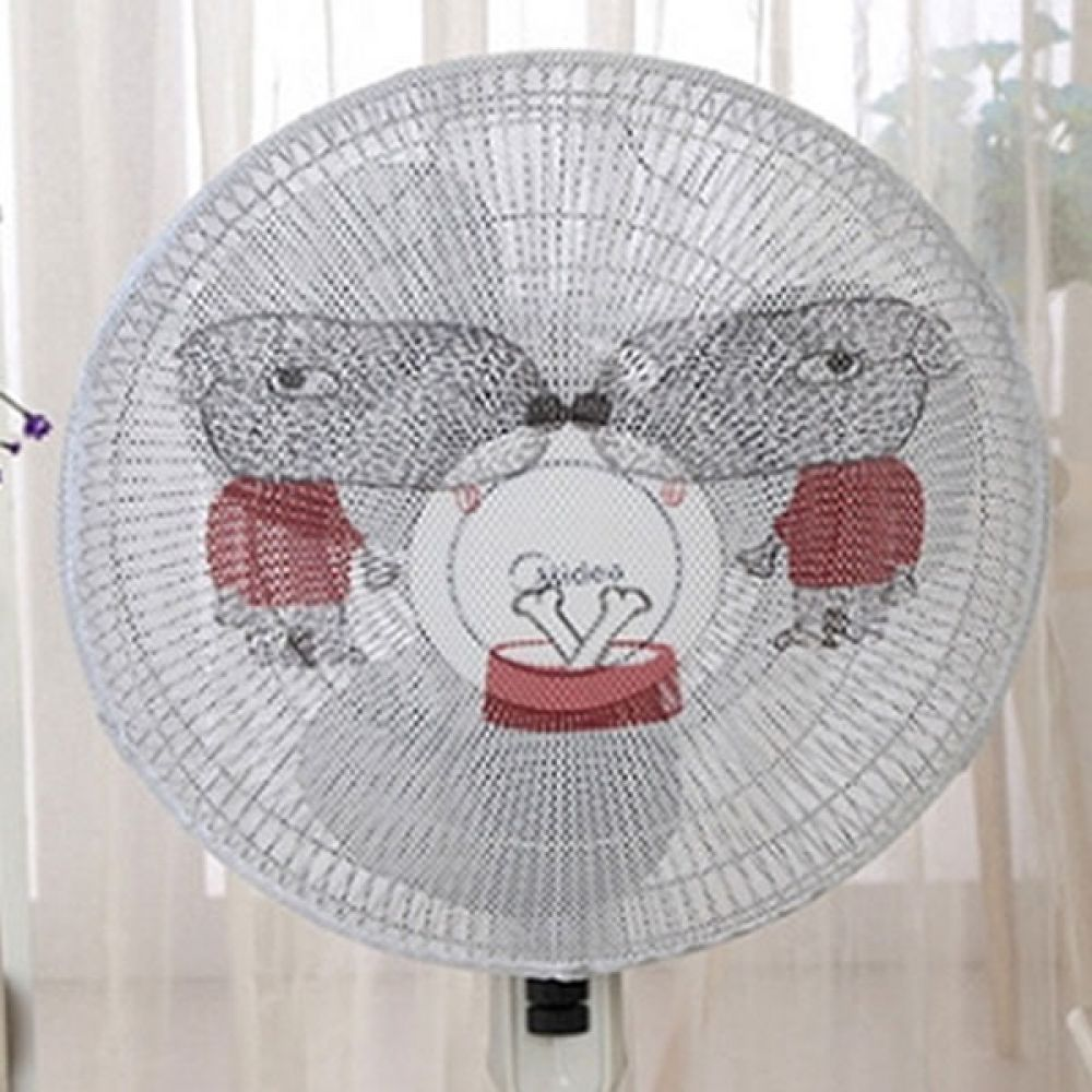 선풍기 안전망 빨간옷 강아지 선풍기덮개 선풍기커버 선풍기덮개 선풍기망 선풍기 선풍기커버 안전망