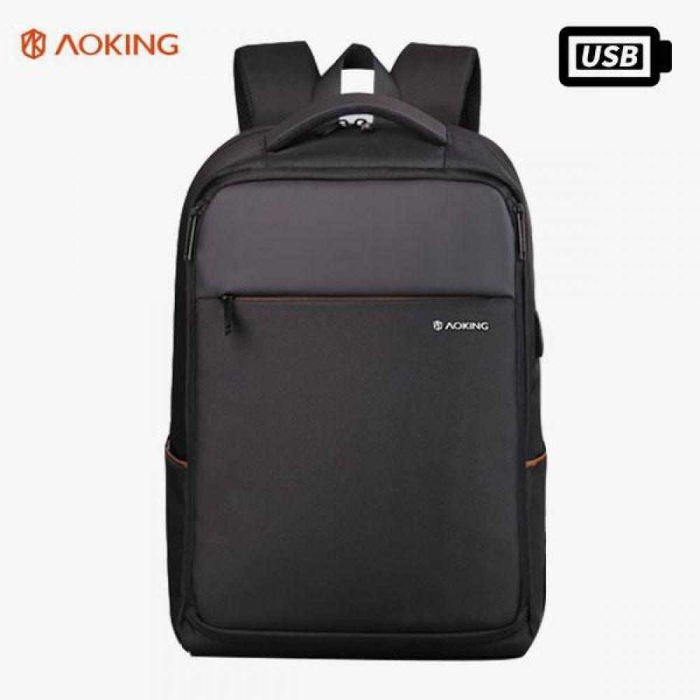 KJ_FKK017 사이드 라인 포인트 USB 백팩 데일리가방 캐주얼백팩 디자인백팩 예쁜가방 심플한가방