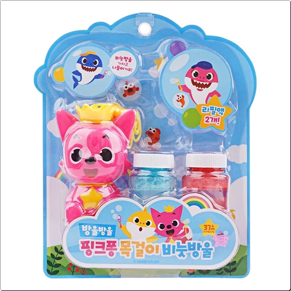 (5000) 핑크퐁 목걸이 비눗방울 (리필포함)(381041) 캐릭터 캐릭터상품 생활잡화 잡화 유아용품
