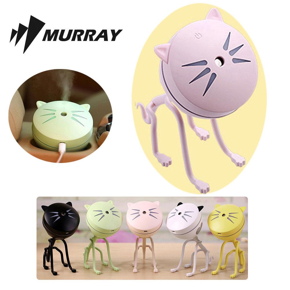 고양이 미니 가습기 MKHUMI-02 핑크 탁상용 사무용 탁상용 가습 사무용 가습기 미니
