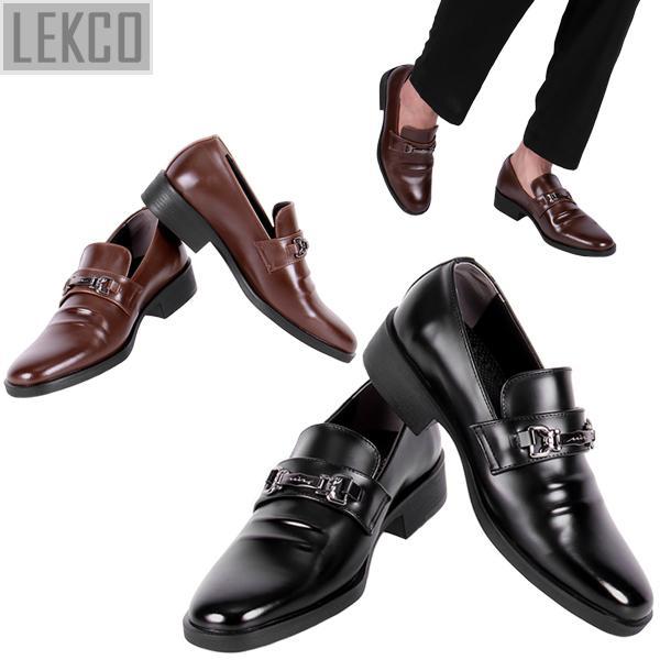 [LEKCO] 남성정장 구두 로퍼메탈 굽 4cm 키높이 LK-180012 정장구두 신사화 수제화 수제구두 남자신발