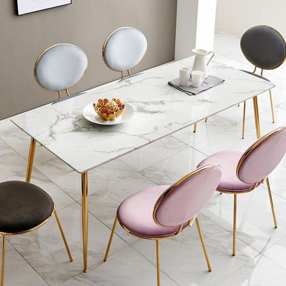 심플라인 골드 프레임 식탁 6인용 2인용식탁 4인용식탁 원목식탁 식탁테이블 거실테이블