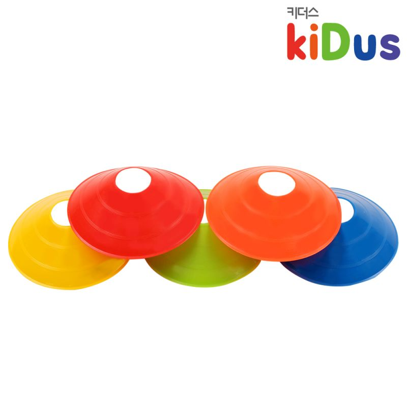 키더스 접시콘(낱개) 유아체육 학교 유치원 어린이집 축구 칼라콘 허들콘 라바콘 꼬깔콘 안전용품