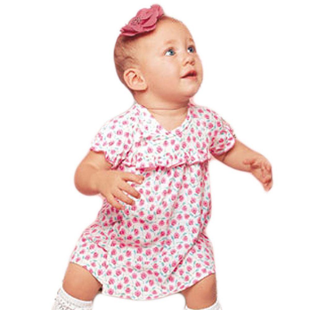 뷰티플라워 팬츠스타일 원피스(6-24개월)300092 유아원피스 등원룩 유아드레스 여아옷 유아드레스 아기원피스