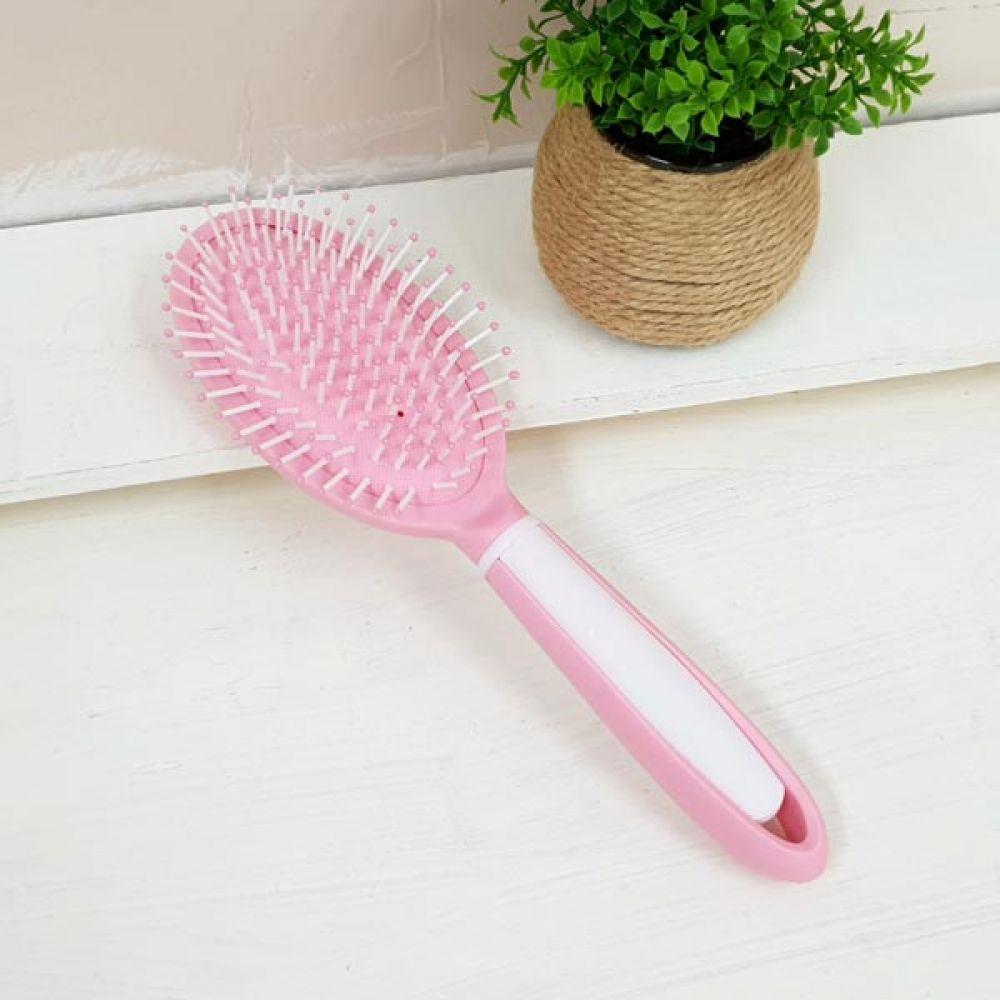 핑크 소프트 타원 쿠션브러쉬 머리손질 미용가위 롤빗 머리핀 머리빗 미용가위 꼬리빗 롤빗