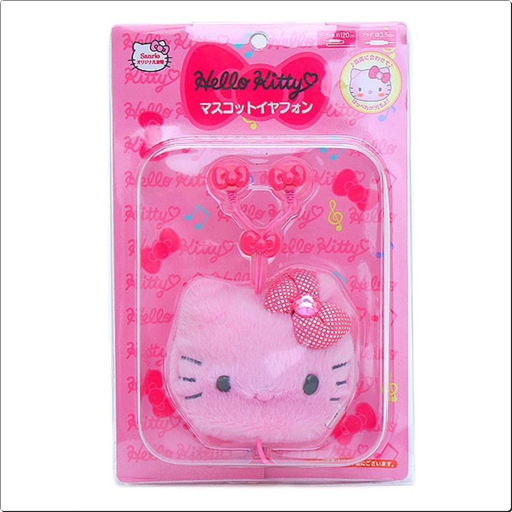 헬로키티 LED 얼굴케이스 커널형 이어폰(일)(166895) 캐릭터 캐릭터상품 생활잡화 잡화 유아용품