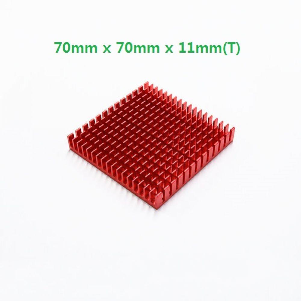 소형 칼라 알루미늄 쿨러 방열판 히트싱크 707011R 2개 빨강 히트싱크 방열판 칼라방열판 다용도 칼라히트싱크 알루미늄방열판 히트싱크 쿨러