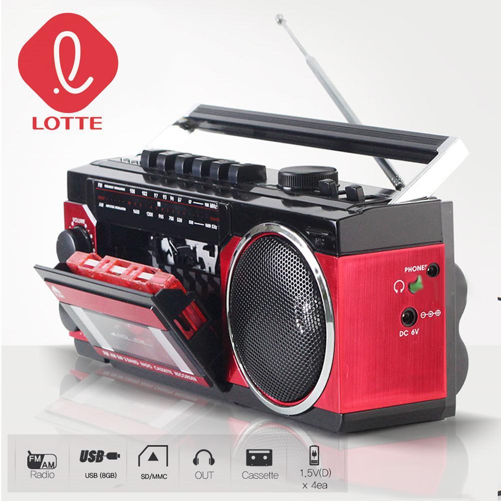 롯데P107 MP3 전전지작동 카세트플레이어 카셋트 플레이어 USB MP3 FM
