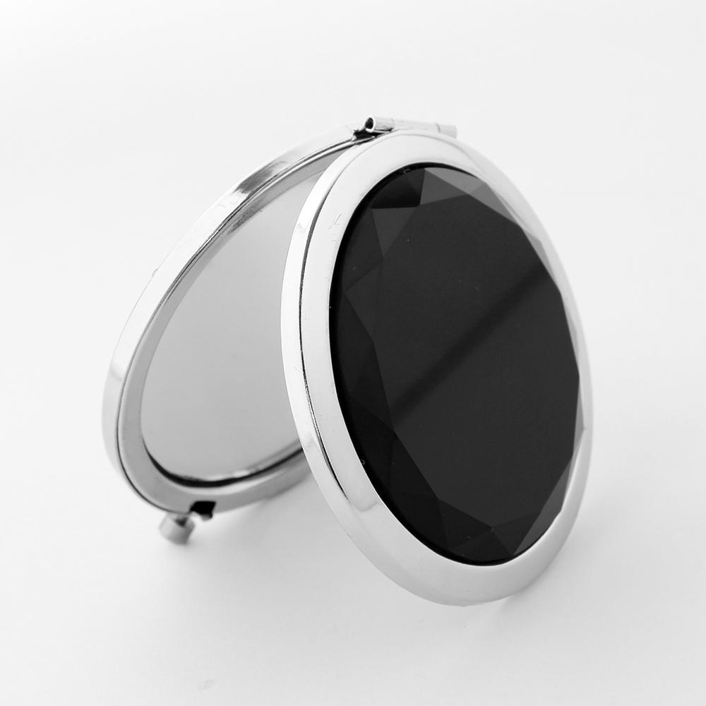 크리스탈 양면 손거울 블랙 미니손거울 접이식거울 미니손거울 미니거울 휴대용폴딩거울 팬시손거울 원형거울