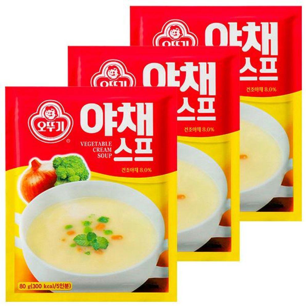 오뚜기)야채 스프 80g x 20개 당근 양파 신선 야채 풍미 영양 식사대용 즉석 레토르트 간편 죽 숩