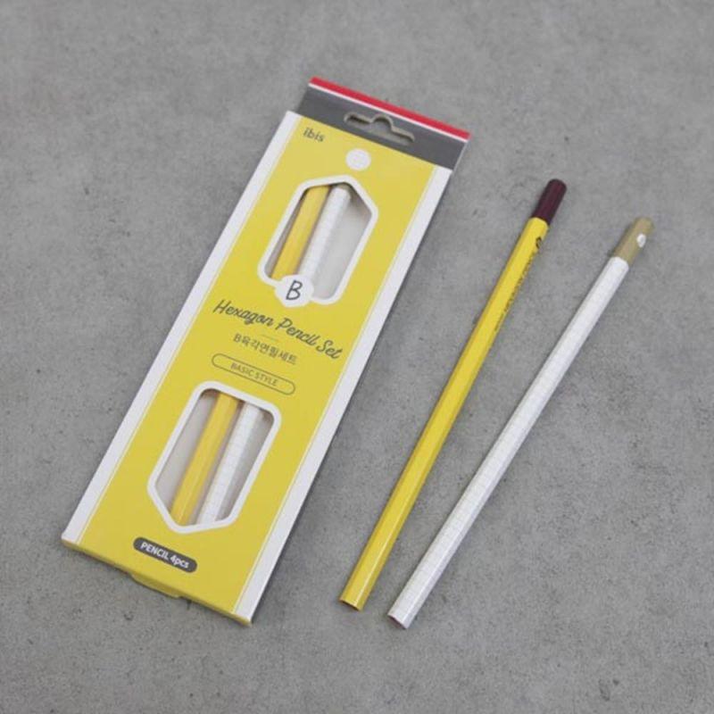 사무 문구용품 육각 연필세트 4본 필기구 학용품 문구용품 연필 필기구 학용품 필기도구