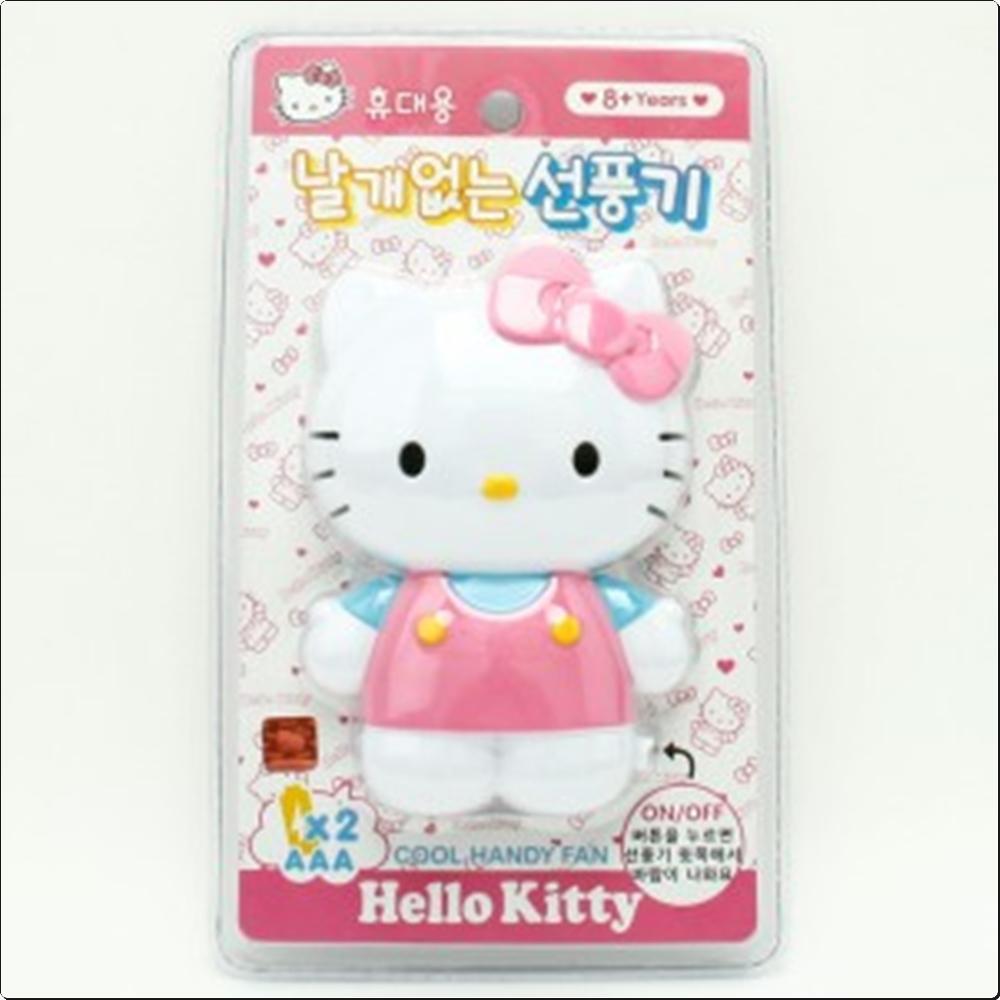 헬로키티 휴대용 날개없는 선풍기(핑크)(490014) 캐릭터 캐릭터상품 생활잡화 잡화 유아용품