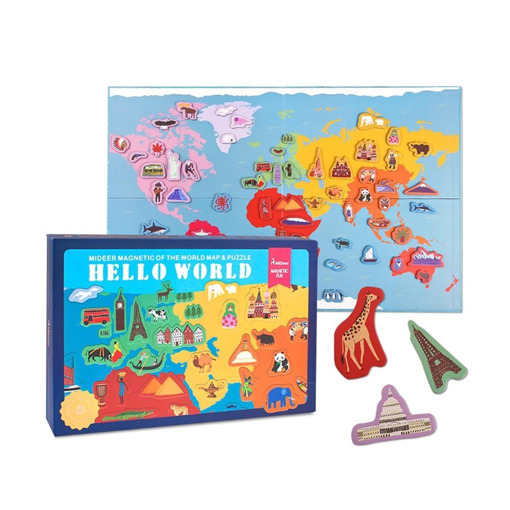 선물 3살 4살 유아 자석 퍼즐 세계 여행 크리스마스 퍼즐 어린이교구 창의교구 아동퍼즐 창작놀이