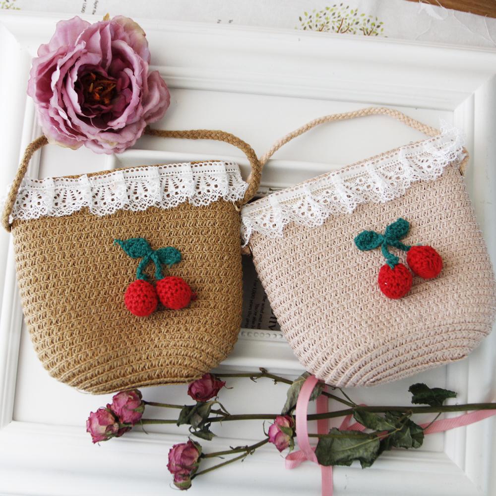 들딸기 페이퍼 핸드백(4colors) 페이퍼백 피서가방 여름가방 밀집가방 왕골가방 어린이가방 어린이핸드백 어린이여름가방 유아여름가방 아동페이퍼백