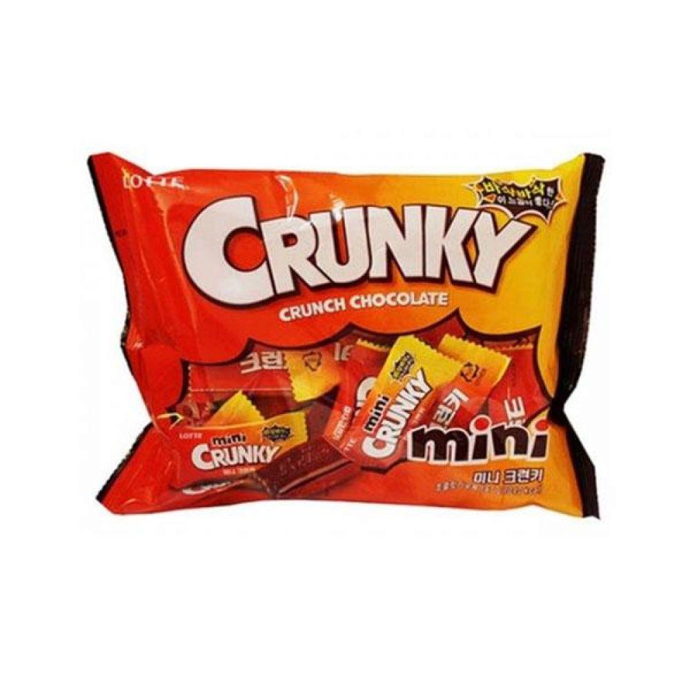롯데)미니크런키 171g x 4개 과자 사탕 젤리 껌 초코렛