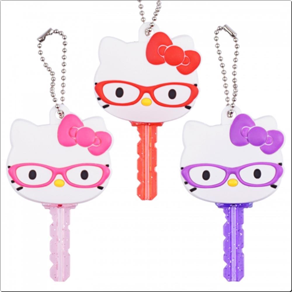 헬로키티 키 덮개 (열쇠고리)(USA)(091507) 캐릭터 캐릭터상품 생활잡화 잡화 유아용품