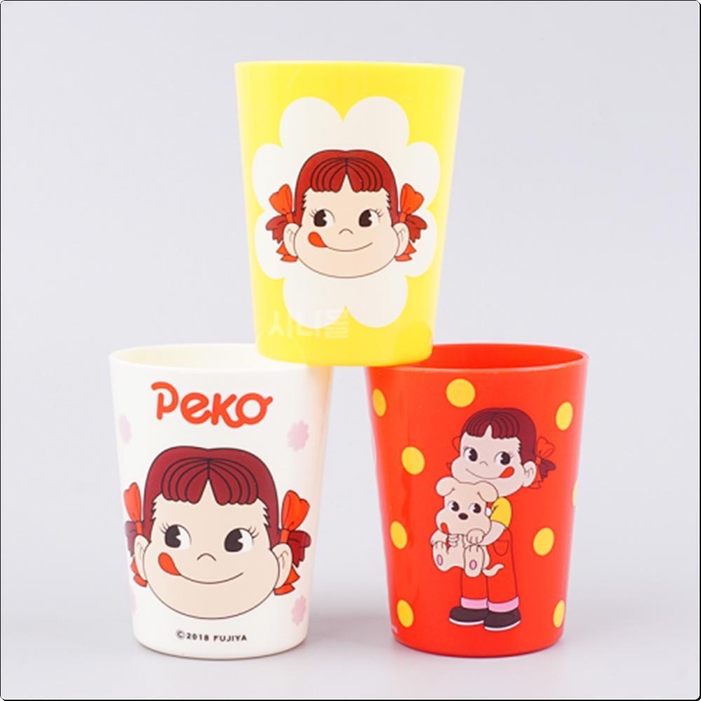 (후지야) 페코포코 PEKOPOKO 3P 컵세트 180ml 캐릭터 캐릭터상품 생활잡화 잡화 유아용품