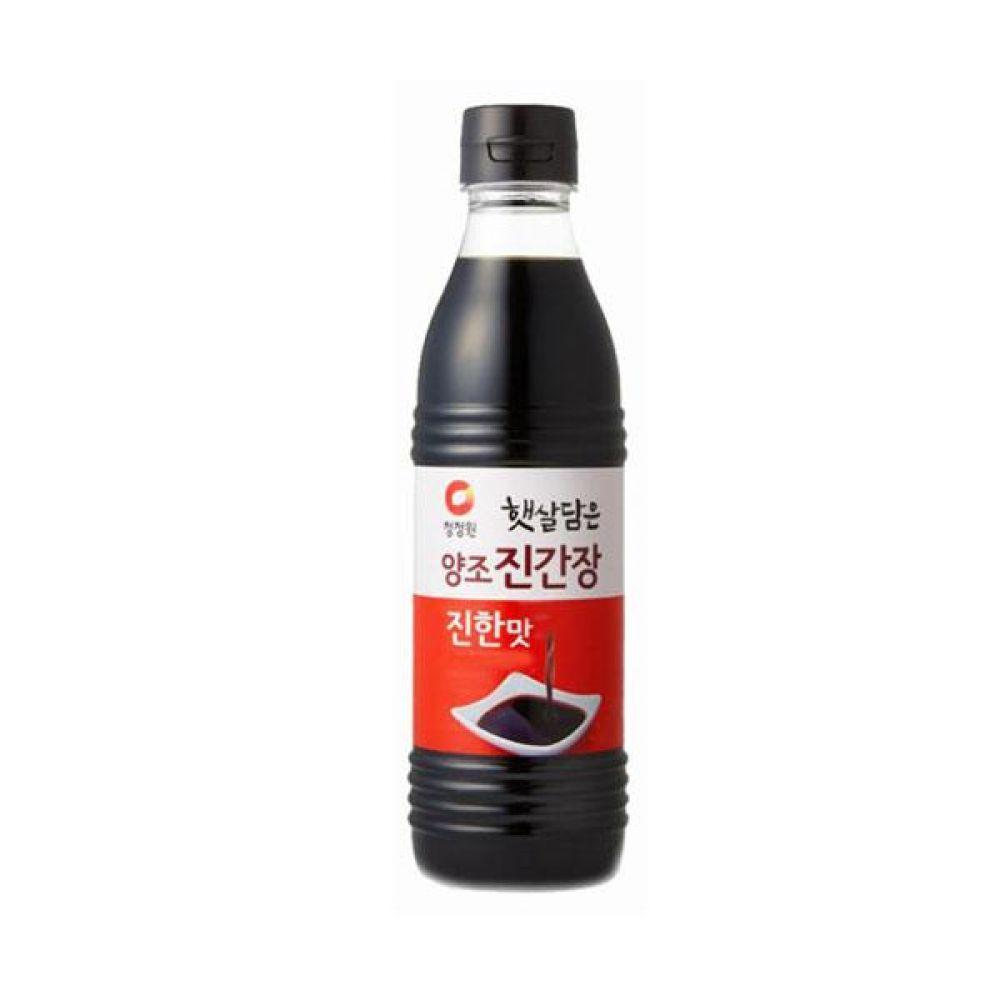 청정원)양조 진간장 진한맛 500ml x 6개 식자재 양념 주방 박스단위 도매