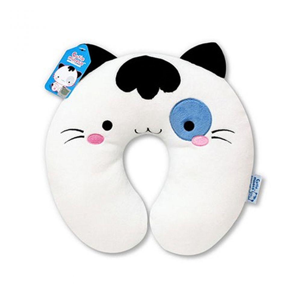 미네코 목쿠션-블루 캐릭터인형 인형선물 봉제인형 귀여운인형 미네코 쿠션 캐릭터쿠션 목쿠션 고양이 고양이캐릭터