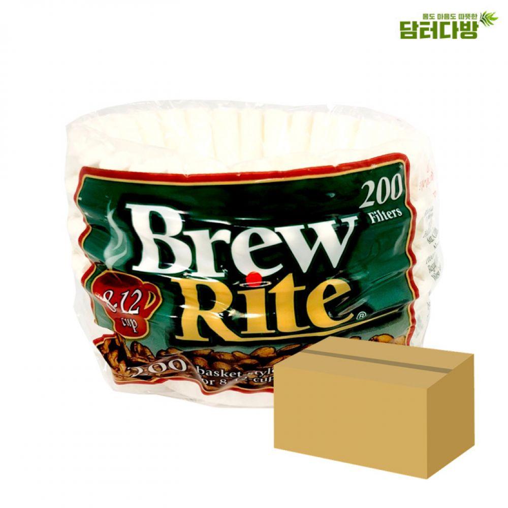 Brew Rite 원형여과지 No.45 1BOX(4800매) 원형여과지 집에서즐기는 커피여과지 카페용품 실용적인 편리한 간편한 가성비 홈메이드 홈카페